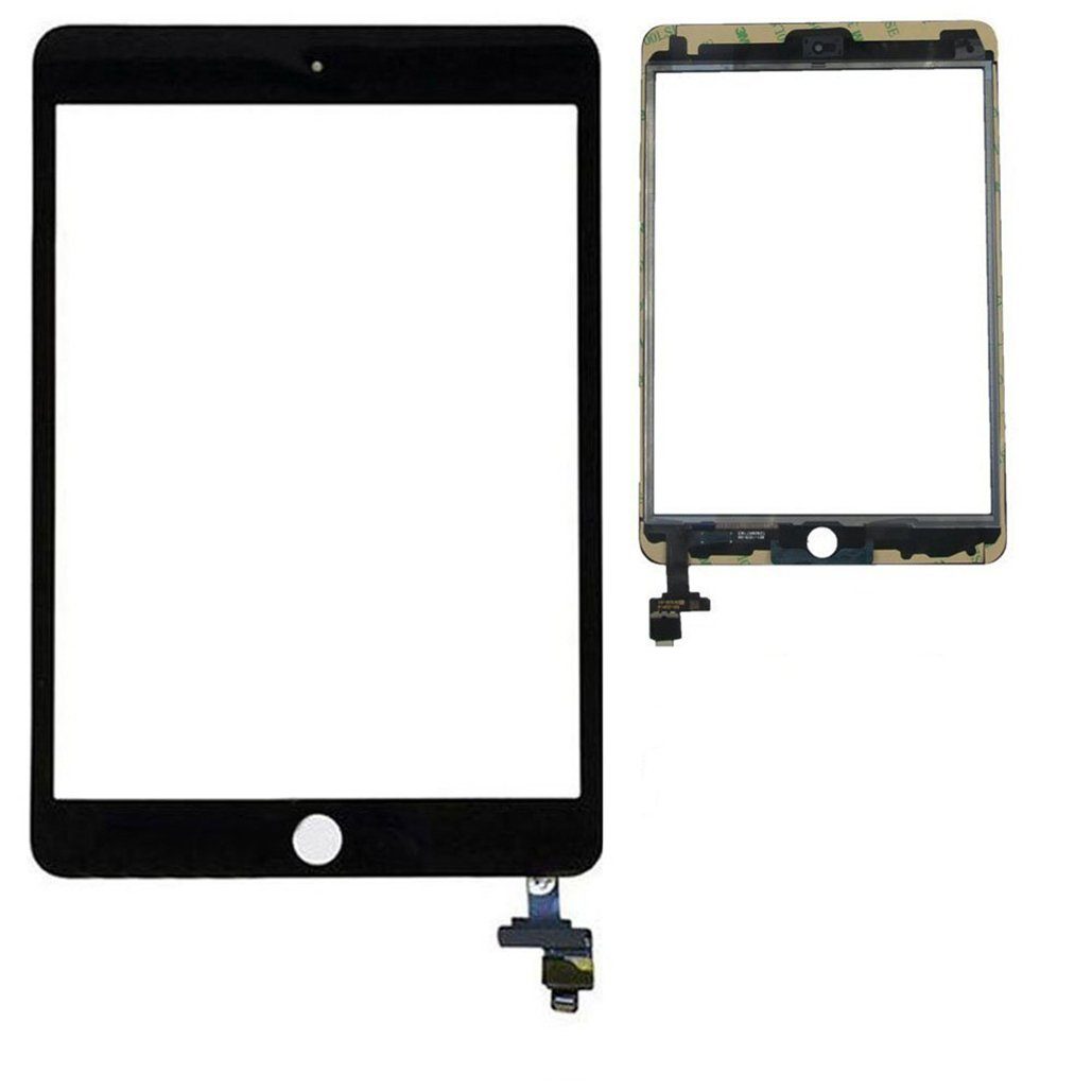 Front Touch Digitizer Full Assembly Replacement With IC Chip + Camera Holder + Adhesive pre-installed + Free tools For IPAD Mini 3rd,Black