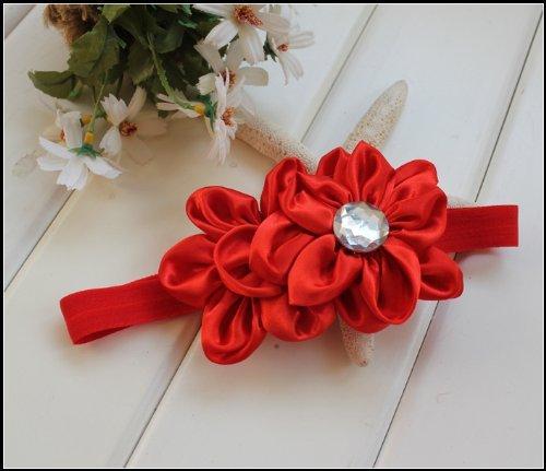 Lovely Ovely Unusal Cotton Girls Baby Red Flower Hairband Headband
