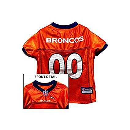 42cfcd989a0 Image Unavailable. Image not available for. Color: Pets First EPDBJ-L Denver  Broncos NFL Dog Jersey ...