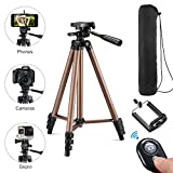 Kwithan 50 Inch Aluminum iPhone Tripod, Video Tripod for Cellphone and Camera, Universal