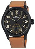 Glycine SME 48 War Marine Relojes Manual Wind Negro PVD Mens Watch 3906.99AT LB33