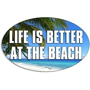 """Life/'s A Beach Decal 30/"""" Sticker Ocean sea Florida Hawaii Salt Water Windshield"""