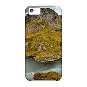 High-quality Durability Case for iphone 5/5S(pool On A Moss Covered Mountain)