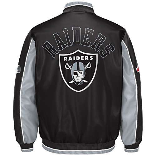Iii Leather (Oakland Raiders Leather Legend Faux Leather PVC Jacket)