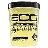 ECO Style Black Castor & Flaxseed Oil Gel 32 oz