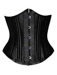 Camellias 26 Double Steel Boned Corset Heavy Duty Waist Training Shaper