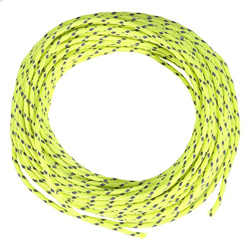 Woven Carry On - Outdoor Reflective Nylon Cord Camping Tent Rope Windproof Tent Awning Cord Guy Rope Line for Outdoor Recreation, Woven for High Strength, 600 Inch (Fluorescent Green)