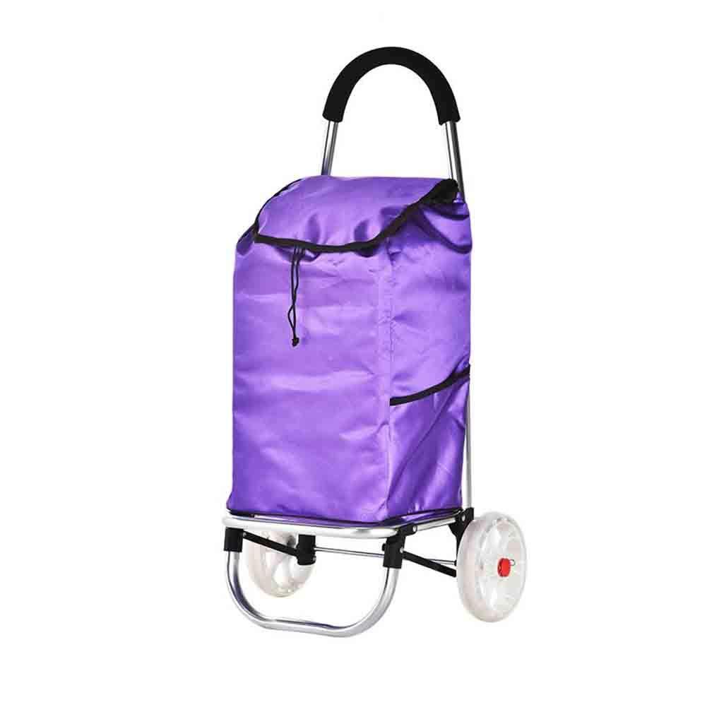 【保存版】 QING MEI MEI ポータブルショッピングカートの大容量ホームトロリーフル絶縁超軽量グロサリートロリーアンチスキッドホイールと31.5x33x88cm A+ (色 : Orange) Purple B07K3Y4GL1 Purple Orange) Purple, オフィスクリエイト:7d801c13 --- movellplanejado.com.br