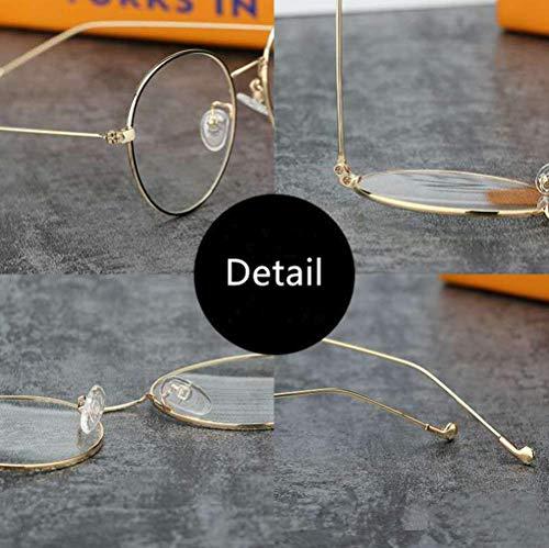 Inshere Retro Round Blue Light Blocking Glasses Eyeglasses Filter Retro Ultra Lightweight Computer Gaming Glasses - Luxury Gold