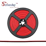 Striveday™ 22ga 10meter/ 32.8FT 2 Conductor 2PIN Red/Black Hook up Wire 12V DC 2468 22AWG RED BLACK wire for Led Strips Single Color 3528 5050