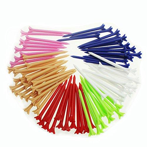 Crestgolf Mixed Color Claw Golf Tees 2 3/4