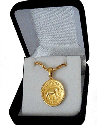 Golden Artifacts Marcus Aurelius, Philosopher King, Roman Coins, Pendant and Chain, Roman Empire -