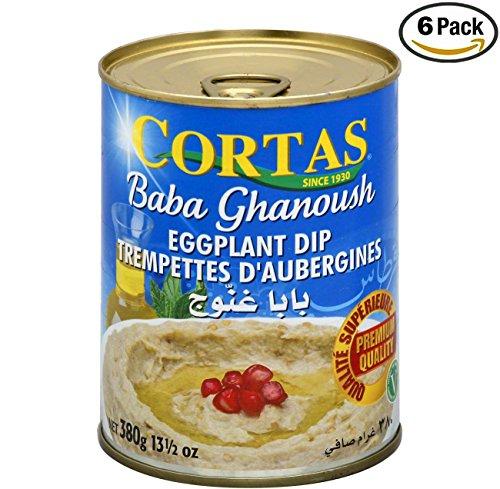 Cortas Baba Ghanoush Eggplant Dip - 13 1/2 oz (pack of 6)