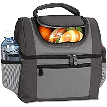 Large Dual Compartment Insulated Lunch Bag / Lunchbox / Cooler by Sacko For Adults Men Women  sc 1 st  Amazon.com & Amazon.com: Large Dual Compartment Insulated Lunch Bag / Lunchbox ... Aboutintivar.Com