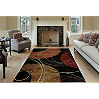 Maxy Home Pasha Interlock Circles Multicolor 7 ft. 10 in. x 10 ft. 6 in. Area Rug