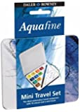 Daler Rowney mini travel set of 10 Aquafine water colour paints in a tin box