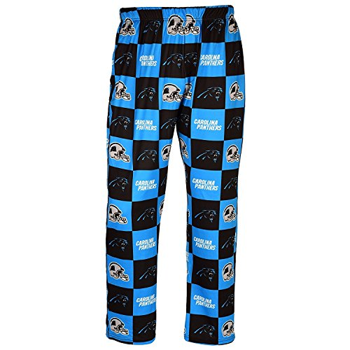 Forever Collectibles NFL Mens Repeat Print Lounge Pants,Carolina Panthers (Panthers Carolina Collectibles)