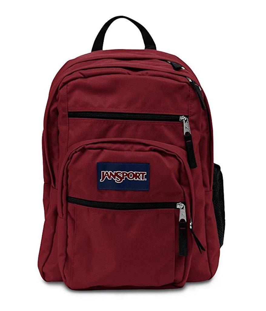 JANSPORT BACKPACK BIG STUDENTS--..BURGUNDY