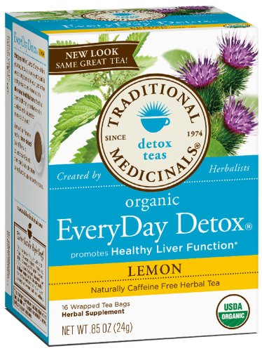 Traditional Medicinals AY29173 Traditional Medicinals Everyday Organic Lemon Detox -6x16 Bag by Traditional Medicinals