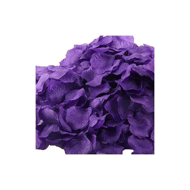 silk flower arrangements uge 4000 pcs artificial silk rose petals carpet flowers bulk for wedding favor party decoration (purple)