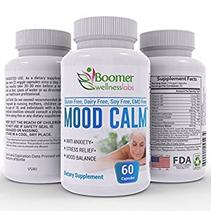 51q0rzYN4OL. SS300  - Anti-Anxiety Supplement for Relief of Panic Attacks & Anger Outbursts. Helps Promote Relaxation, Positive Mood & Energy. 100% Natural & Herbal—Ashwagandha, Chamomile & GABA. Bonus E-Book. Mood Calm