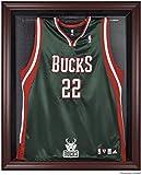Milwaukee Bucks Mahogany Finished Logo Jersey Display Case