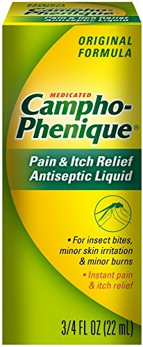 Pain Liquid - Campho-Phenique Pain & Itch Relief Antiseptic Liquid 0.75 fl oz (Pack of 3)