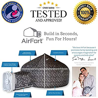 The Original AirFort Build A Fort in 30 Seconds, Inflatable for Kids (Jungle Camo): Toys & Games