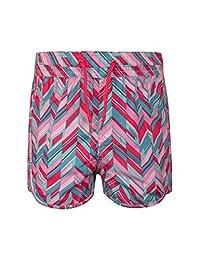 Mountain Warehouse Girls Board Shorts -Easy Care Kids Beach Swim Pants Fuchsia 5-6 years
