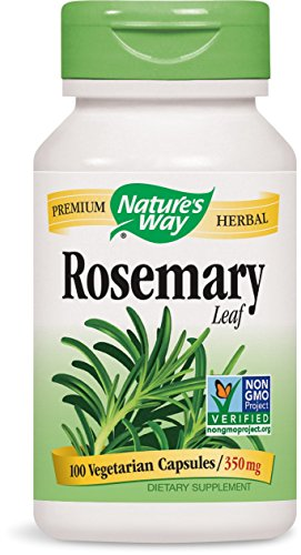Nature's Way Rosemary Leaves,  350 mg, 100 Capsules (Pack of 4)