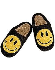 Vrouwen mannen Smiley Gezicht Pluche Pluizige Pantoffels Traagschuim-Home Comfy light Leuke Cartoon Antislip Indoor Outdoor Klomp Slipper