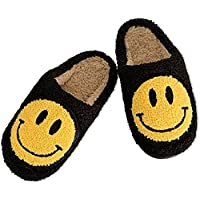Women's Men's Smiley Face Plush Fluffy Slippers Memory Foam- Home Comfy Light Cute Cartoon Non Slip Indoor Outdoor Clog…