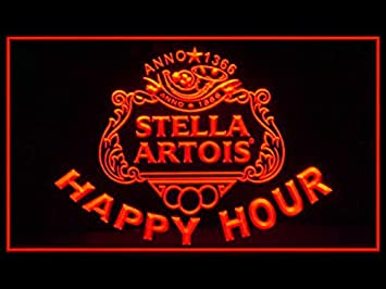 Amazon Com Stella Artois Beer Happy Hour Drink Led Light Sign Home