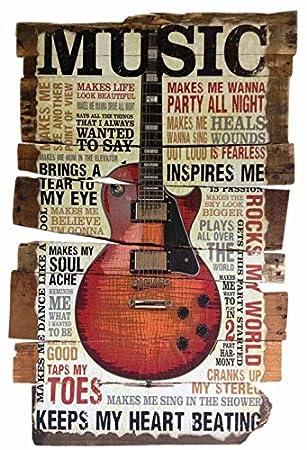 Cartel de Chapa genérica 20 x 30 cm Music Keeps My Heart ...