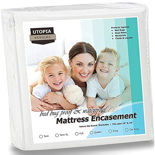 Utopia Bedding Zippered Mattress Encasement - Bed Bug Proof, Dust Mite Proof Mattress Cover - Waterproof Mattress Protecter (Full)