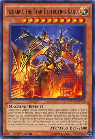 (Yu-Gi-Oh!! - Jizukiru, The Star Destroying Kaiju (MP16-EN235) - Mega Pack 2016 - 1st Edition - Rare)