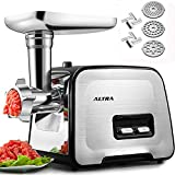 Electric Meat Grinder, ALTRA Stainless Steel Meat Mincer & Sausage...
