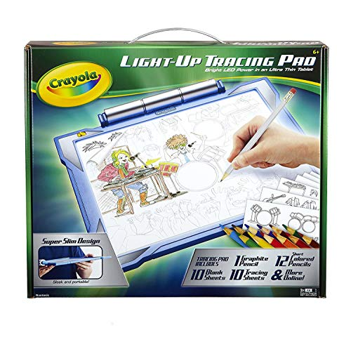 Crayola Light-up Tracing Pad – Blue, Coloring Board for Kids, Gift, Toys for Boys, Ages 6, 7, 8, 9, 10