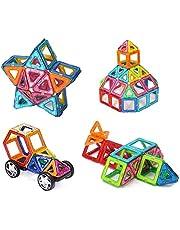 128 Pieces Magnetic Building Blocks Set Educational Stacking Tiles Creative Imagination Development Toys