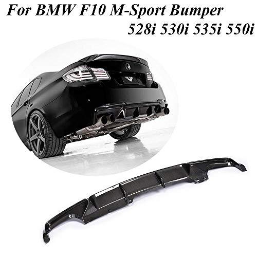 jcsportline Carbon Fiber Rear Diffuser fits BMW F10 M-Sport Bumper 528i 530i 535i 550i 2011-2017 (V Style)