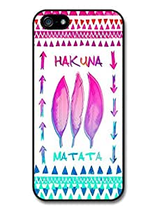 Hakuna Matata Lion King Pink and Blue Feather Aztec Illustration Case For Sam Sung Note 4 Cover