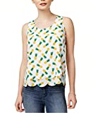 Maison Jules Women's Printed Layered Scalloped-Hem Top