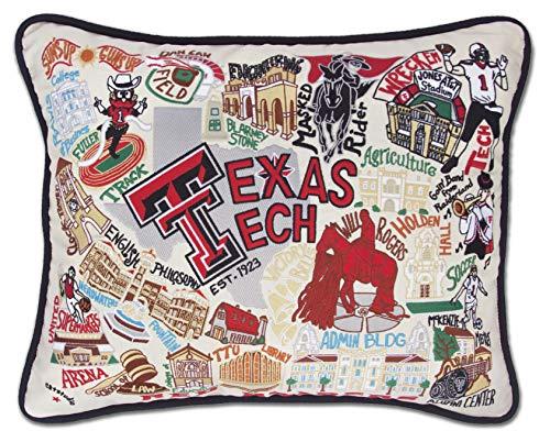 - Catstudio- Texas Tech University Embroidered Throw Pillow - 16