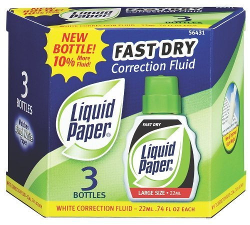 Liquid Paper Fast Dry Correction Fluid, 12 Pack(5643115) by Liquid Paper (Image #1)