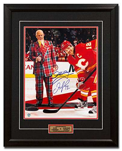 - AJ Sports World Jarome Iginla & Don Cherry Dual Signed Calgary Flames Face Off 25x31 Frame