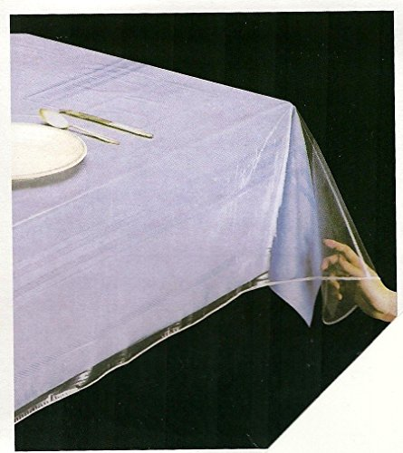 Clear Heavy Duty Vinyl Tablecloth Protector, Oblong 52