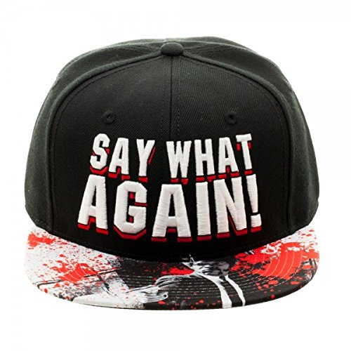 4864fbcfceb Amazon.com  PULP FICTION Say What Again Embroidered Snapback Hat ...