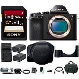 Sony Alpha a7S Mirrorless Digital Camera (Body Only) w/ 64GB SD Card & LCSELCCB Sony Case Bundle