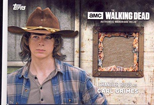 2017 Walking Dead Season 6 Screen-Worn Wardrobe Card Carl Grimes' Shirt
