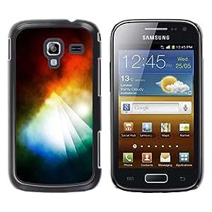 TopCaseStore / la caja del caucho duro de la cubierta de protección de la piel - Prism Dark Black Vibrant Light Sun - Samsung Galaxy Ace 2 I8160 Ace II X S7560M